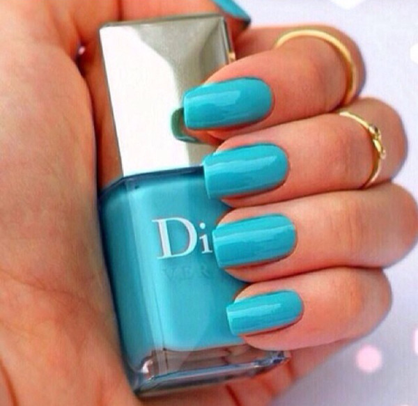 nail polish cute sexy nails turquoise blue