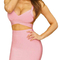 Cut out midi two piece bandage dress pink