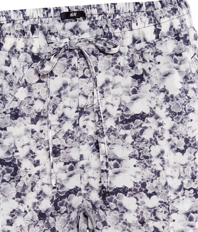 Floral Drawstring Waist Loose Chiffon Pant - Sheinside.com