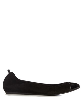 ballet flats ballet flats leather suede black shoes