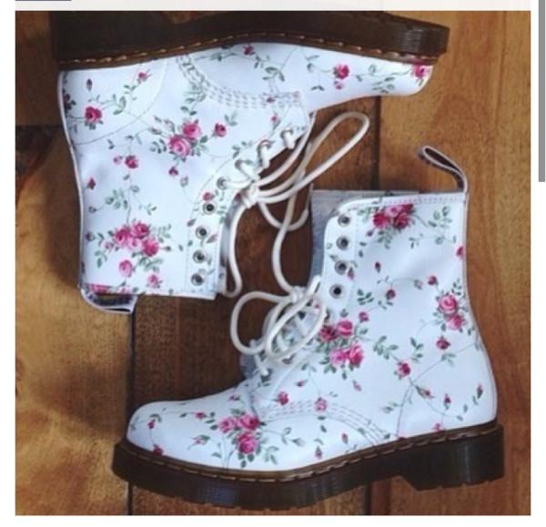 shoes docmartens floral