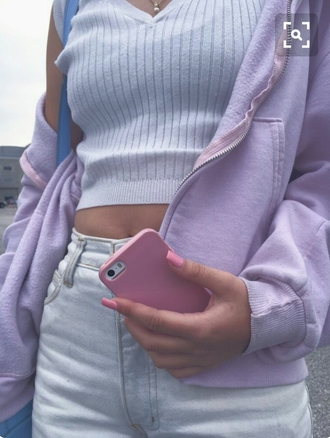 jacket pastel purple lilac blue jeans summer tumblr girly top forever 21