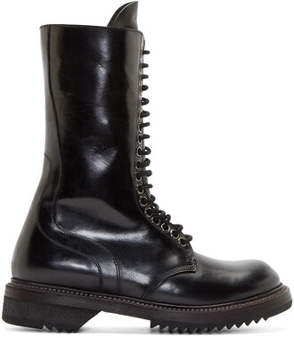 army boots boots leather black black leather shoes