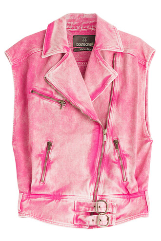 vest denim vest denim pink jacket