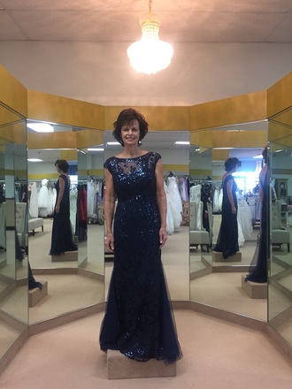 dress with sequins navy