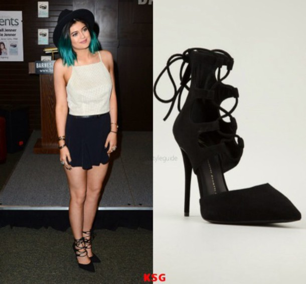 black heels kylie jenner shoes