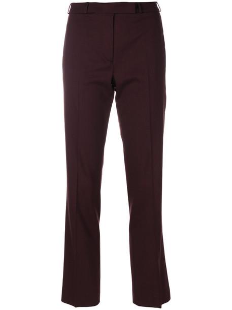 ETRO cropped women spandex wool brown pants