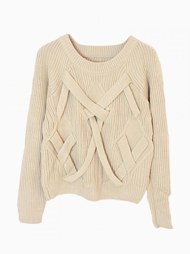 Gray Texture Crop Knit Top | Choies