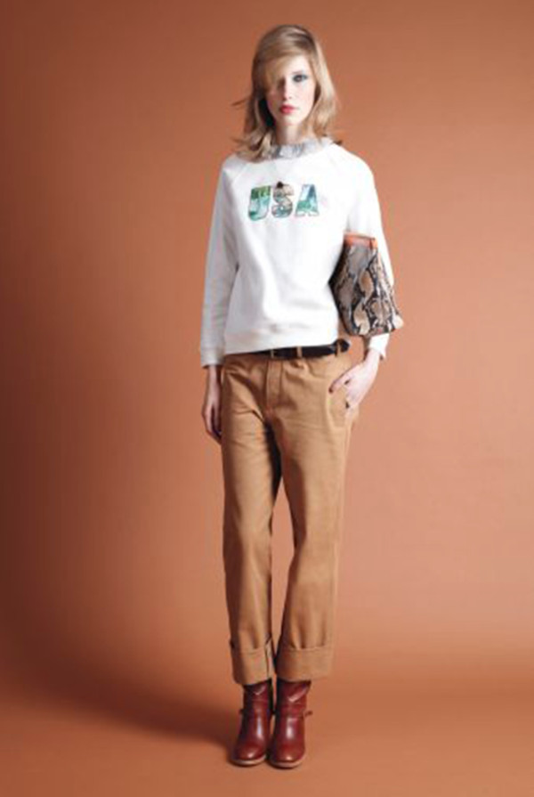 sweater apc fashion lookbook shirt pants shoes bag