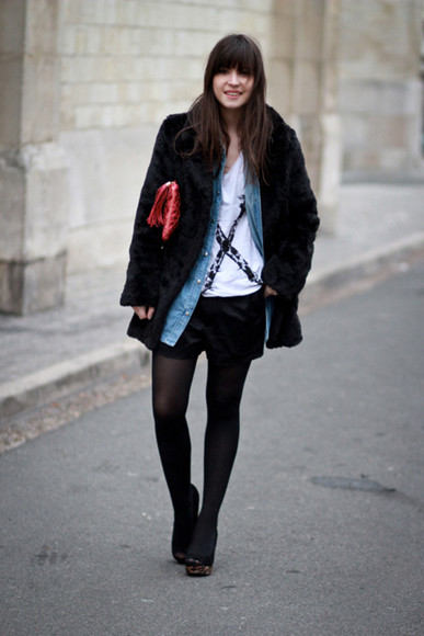 betty blog de betty coat black faux fur coat faux fur coat