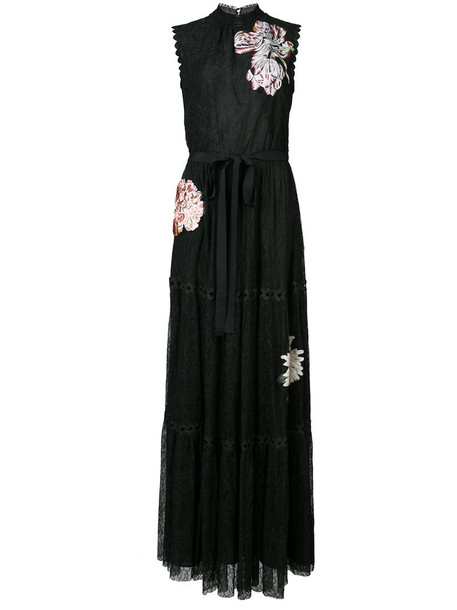 Sachin & Babi gown women lace floral black dress