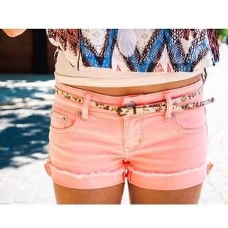pink pants pants spring summer 2014 do the hotpants