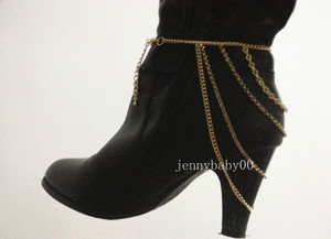 New women heel shoe boots ankle chain body necklace anklet bracelet foot jewelry