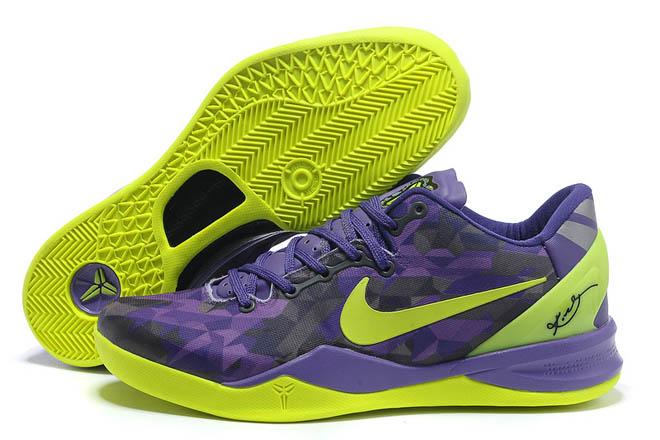 Kobe Bryant VIII(8) System Purple/Volt Colors Men Size Shoes