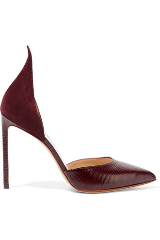 snake pumps suede shoes