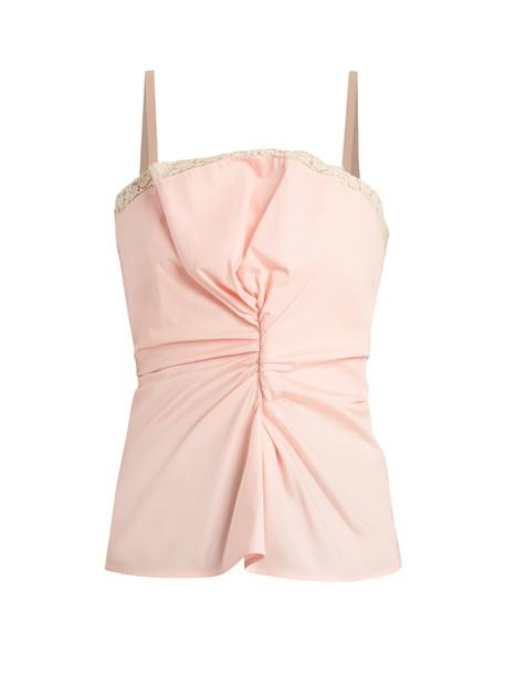 Jacquemus top rose lace wool light pink light pink