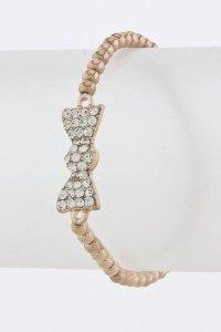 Amazon.com: KARMAS CANVAS BOW BEAD BRACELET (Copper): Jewelry