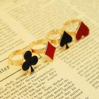 heart ring jewels diamond ring spade ring club ring