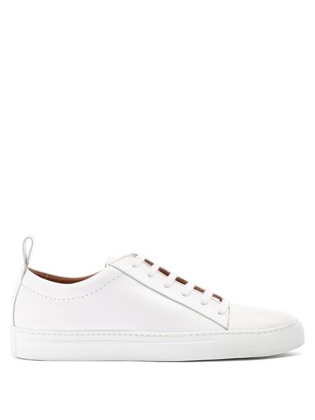 Joseph top leather white