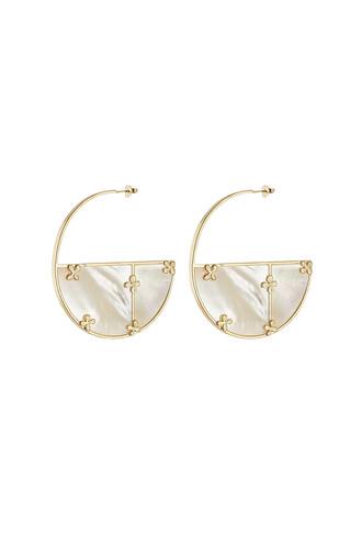 pearl earrings gold white jewels