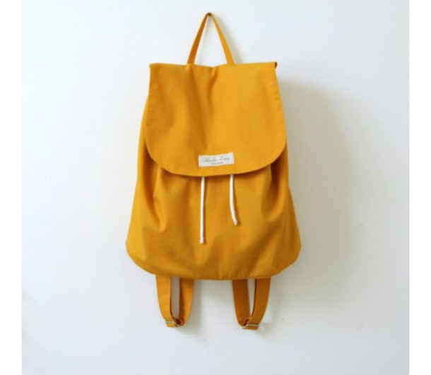 49a90f615 bag, mustard, yellow, backpack - Wheretoget