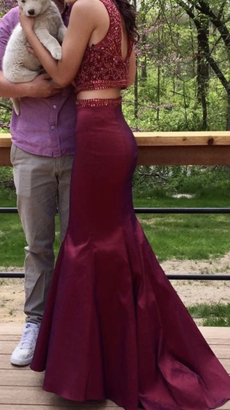 dress red dress 2 piece prom dress mermaid prom dress prom dress embellished dress sky blue prom gown lavender prom dresses key hole back mermaid need for prom