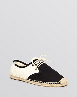 Soludos Lace Up Espadrille Flats - Derby | Bloomingdale's