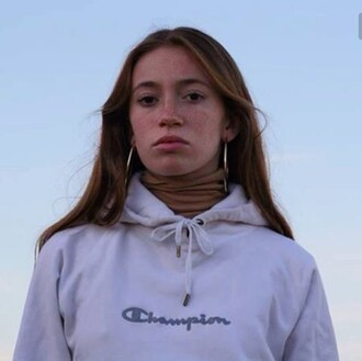 sweater hoodie champion champion long sweatshirt with hood white