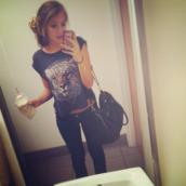 t-shirt,tiger,black,rock,grunge,soft grunge,bag,coffee,iphone case,back to school,school girl