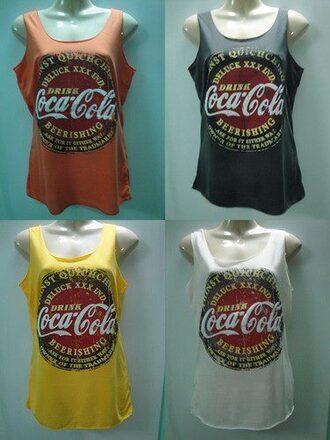t-shirt coca cola debardeur