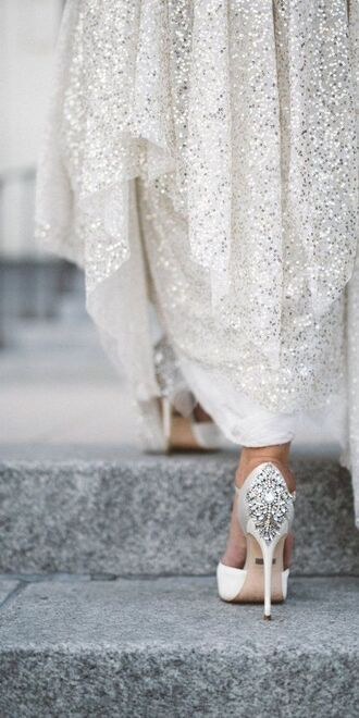 shoes wedding shoes wedding embellished sequins wedding accessories all white everything