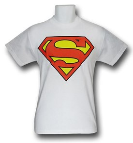 Superman Symbol T-Shirt on White