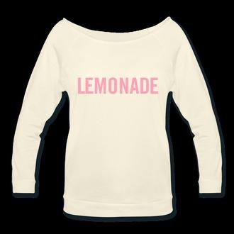 sweater lemonade hip hop beyonce fashion beyonce beyonce sweatshirt beyonce tshirt music t-shirt sweatshirt