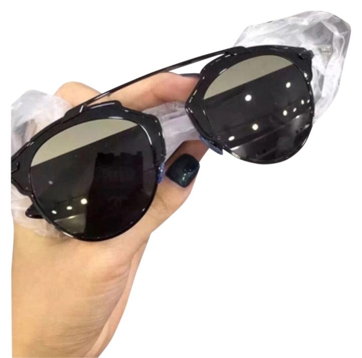 56e06c079e83a Dior  So Real  48mm Mirrored Sunglasses Black Grey Silver Mirror