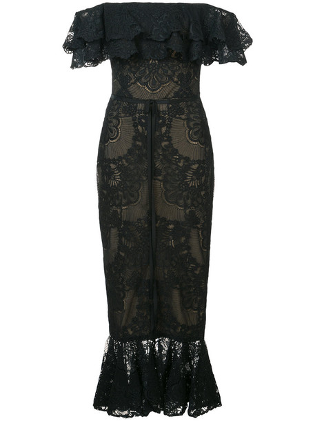 Marchesa Notte dress women black