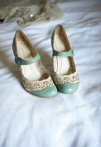 shoes vintage mint