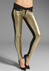 New Authentic Frankie B Noir Gold Stardust Leggings Size 25 26 27 28 29 30 | eBay