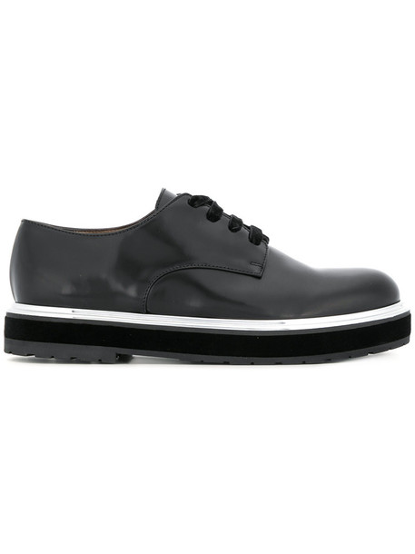 AGL women embellished shoes lace-up shoes lace leather black