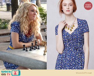 floral the carrie diaries blue