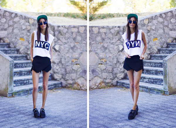 mexiquer hat sunglasses t-shirt skirt