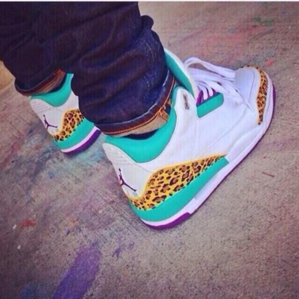 shoes teal air jordan 3 jordans cheetah jordan s leopard print b34b32d55
