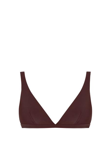 MATTEAU bikini bikini top burgundy swimwear