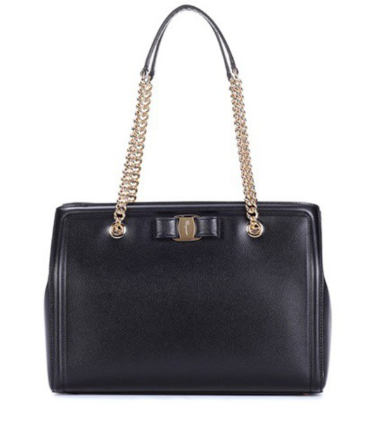 Salvatore Ferragamo leather black bag
