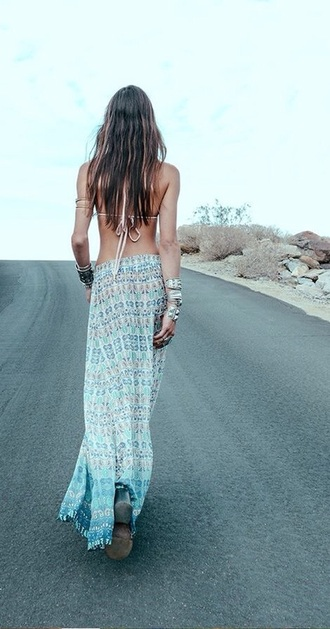 skirt blue skirt blue dress boho shirt boho dress boho hippie dress fashion boho boho chic boho maxi dress maxi dress maxi skirt maxi light blue gypsy hippie spring skirt
