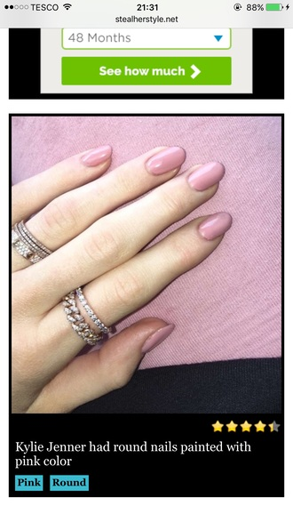 nail polish nails pink rose dusty pink