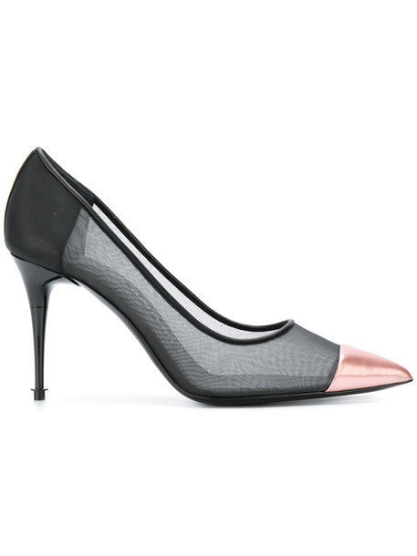 Tom Ford sheer women plastic pumps leather black shoes