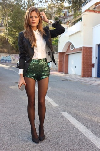 shorts green sparkle style sequin shorts
