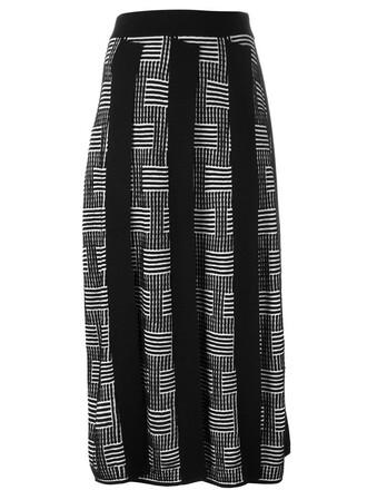 skirt knit stripes black