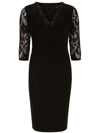 Black lace sleeve dress - Dorothy Perkins