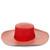Red Two Tone Brim Cordovez Hat